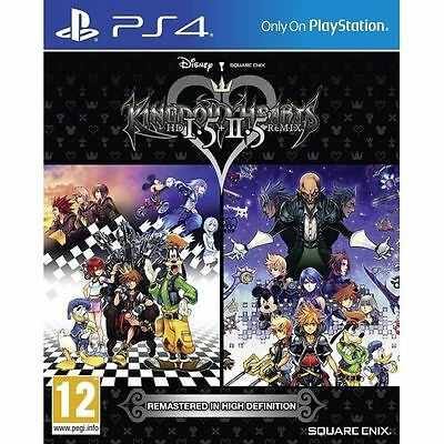 Kingdom Hearts HD 1.5 + 2.5 Remix PS4 Game Square Enix Brand New
