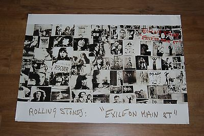 ROLLING STONES - RARE LARGE 'EXILE ON MAIN ST' POSTER promo
