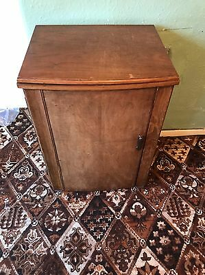 Jones 1950's Treadle Sewing Machine In Cabinet Working And Complete