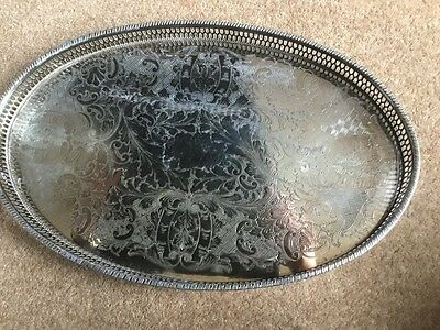 Viners Silver Plated Gallery Tray