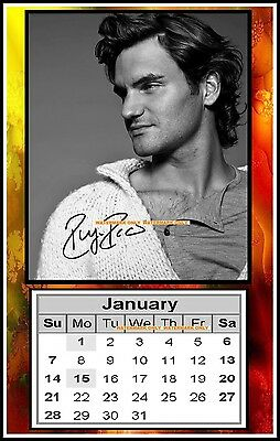 The 2018 Roger Federer, Signed. MINI MAGNETIC CALENDAR. Limited Edition (RF-2)