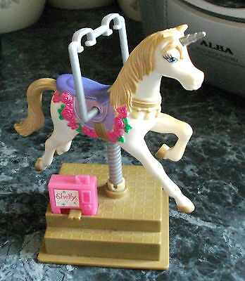 Shelly Barbies Sister`s Wind Up Rocking Unicorn Mattel 2002 14 cms High