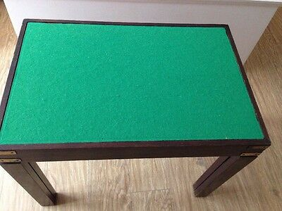 Vintage Games Table Cards, Backgammon, Chess , Draughts, glass top, legs unscrew