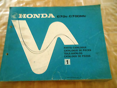 Catalogue Pieces De Rechange Moto Honda C70C C70Dmc 1981