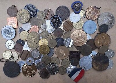 Job Lot. Collection Of At Least 70 X Medallion, Token, Coin, Medal. Bulk Lot.