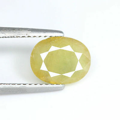 Stunning 2.35Cts Natural Green Sapphire 9X7Mm Oval Loose Gemstone
