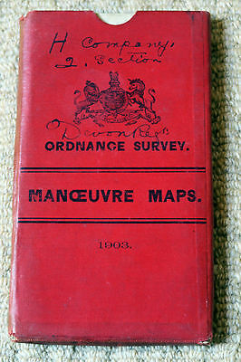 Ordnance Survey Half-inch South of England Manoevre Maps of 1903