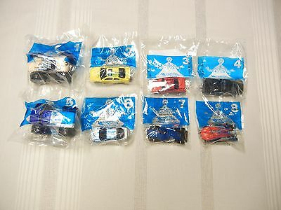 McDONALD'S TOYS - SET OF 8 - HOT WHEELS - 2001 - NEW IN PKG.
