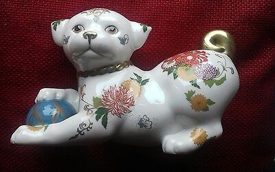 The Imperial Puppy of Satsuma Hand decorated The Franklin Mint 1987 Beautiful