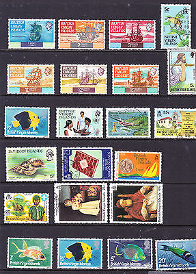 British Virgin Islands stamps - 22 MUH, MH & Used