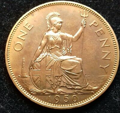 1950 Proof Penny. Stunning Golden Tone.