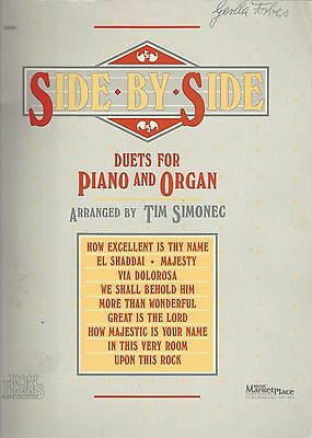 Side By Side Duets for Piano and Organ arranged by Tim Simonec Music Book . F183