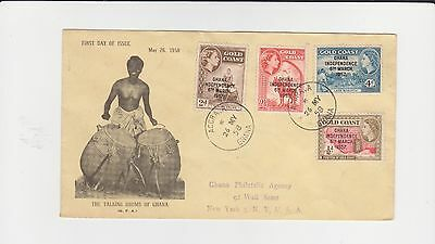 Gold Coast Ghana Independance Overprints Tyed On Add Cover May 26 1958 Cover