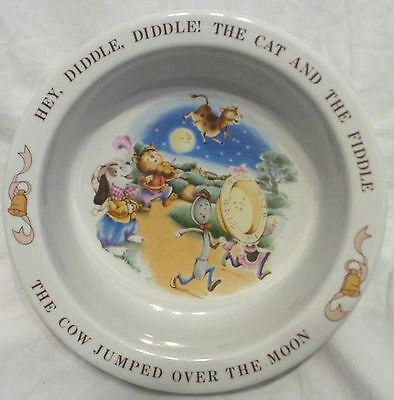 Vtg. Avon 1984 Child's Bowl Hey,diddle,diddle! The Cat And The Fiddle