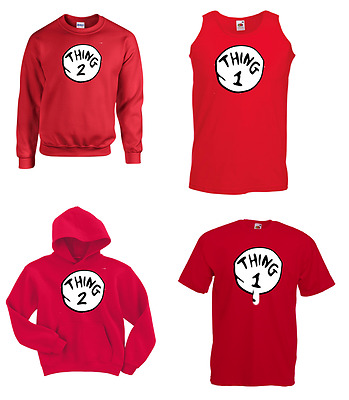 DR SEUSS CAT IN THE HAT THING1 2 3 4 5 6 T Shirt Vest Sweatshirt Strappy Top