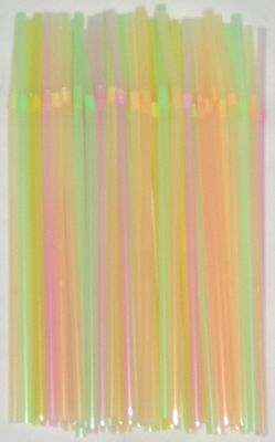 1000 X Multi Coloured Bendy Drinking Straws Disposable Juice Beverage