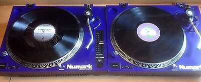 "2 X Numark Tt1700 Turntables & 10 X New 12"" Vinyl Records Decks Party Rave Dj"
