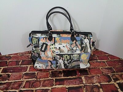 Bueno Collection Weekender Travel Carry On Tote Satchel Bag Travel Theme o