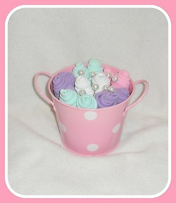 Baby Girl Washcloth Flower Bouquet - Beautiful Baby Shower Or Gift Idea