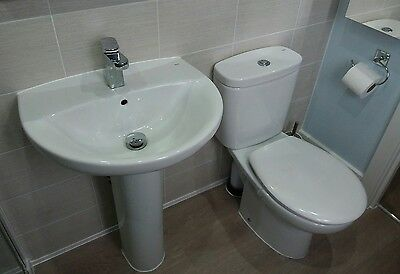 toilet and sink with tap