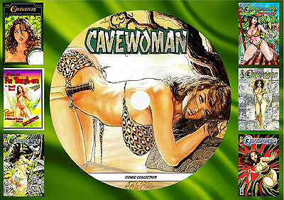Cavewoman Comic Collection On Printed Dvd Rom