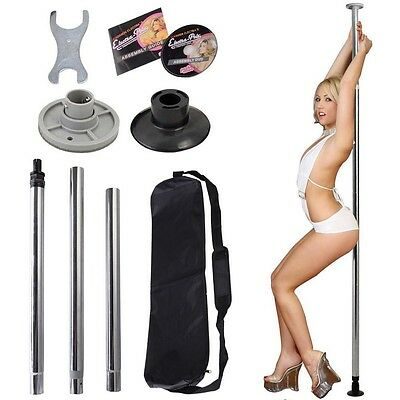 Sliver Dance Pole Full Kit Portable Stripper Exercise Fitness Club Party Dancing