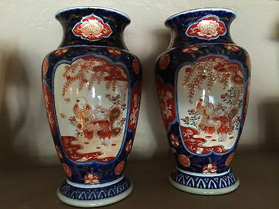 A PAIR of 18th-19th Century Imari Vases