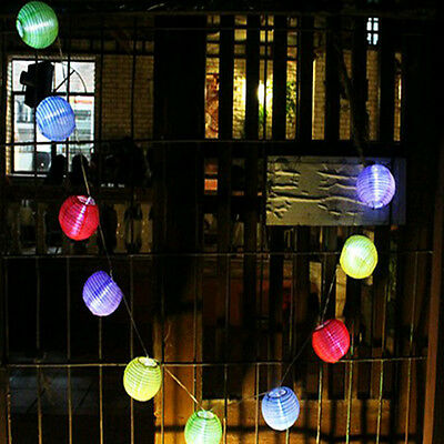battery operated LED Fairy Lights 2 Mode 20 Lampion Lantern 4.2M Multi color