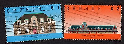 Canada: 1988 Architecture high values; incomplete used set ($1 & $2 only)