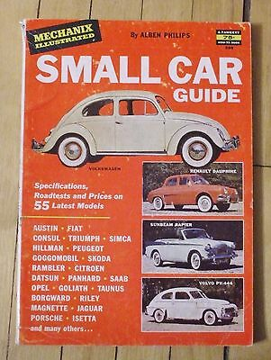 1958 Mechanix Illustrated Small Car Guide Foreign + Corvette 144 Pages