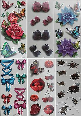 3D Temporary Tattoo New Lot Style Fashion Women Butterfly