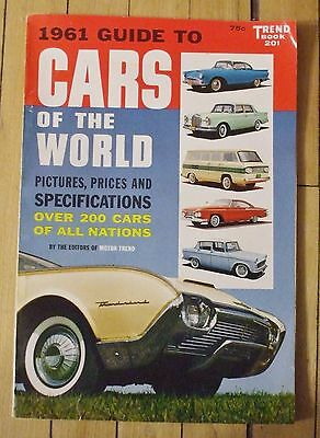 1961 Trend Book No. 201 Guide To Cars of the World 128 Pages