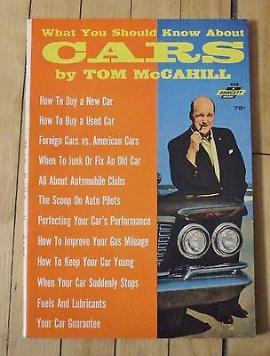 1963 What You Should Know About Cars Book Tom McCahill Nice PB