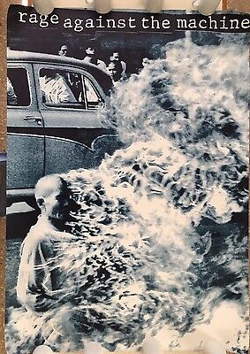 """RAGE AGAINST THE MACHINE, RARE  XL 38"""" X 53,5""""  1980's POSTER"""