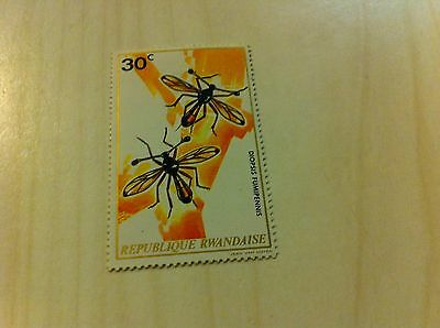 Vintage Diopsis Fumipennis Republique Rwandaise 30c Postage Stamp African Africa