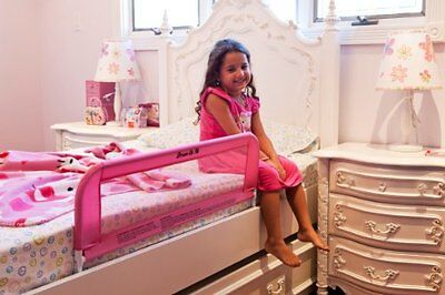Pink Bed Rail Dream On Me Crib Safety Rail Guard Protector Mesh Lightweight New
