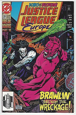JUSTICE LEAGUE EUROPE #33   Lobo app.   Sonic the Hedgehog preview   1991   VF+