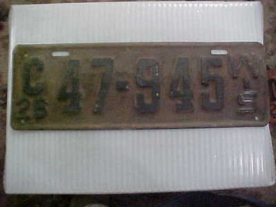 1926 Wisconsin License Plate Original Paint & Condition