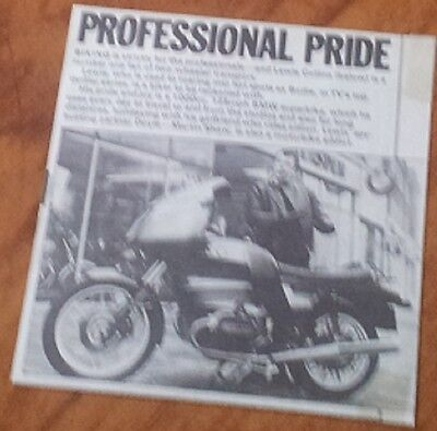 Lewis Collins Bodie The Professionals Collecting his BMW Motorbike Article RARE