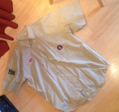 Scout Leader's Shirt, Summer, Short Sleeve XL With Badges