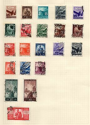 Italy stamps, from 1945