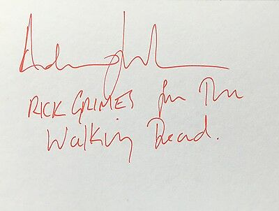 ANDREW LINCOLN The Walking Dead RICK GRIMES Signed Autograph Card - COA