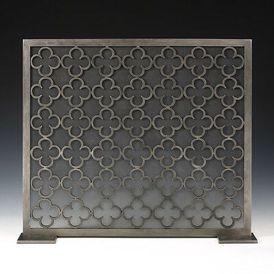 Moroccan Style Wrought Iron Fireplace Decorative Fire Screen 33'' x 27.75''H.