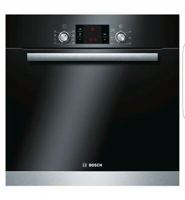Bosch HBA63B152B Brushed Steel Electric Pyrolytic single fan assisted oven