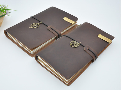 4X7 Vintage Retro Leather Journal Travel Notepad Notebook Blank Diary Organizer