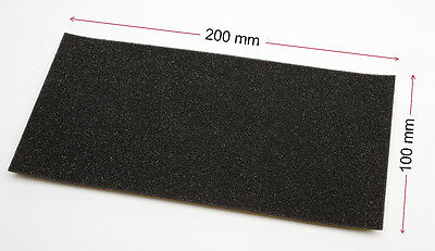 2 mm THICK - OPEN CELL FOAM SELF ADHESIVE -  ONE PIECE: 2x100x200 mm