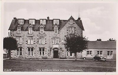 Rp The Gordon Arms Hotel  Tomintoul , Real Photo Scotland C 1955