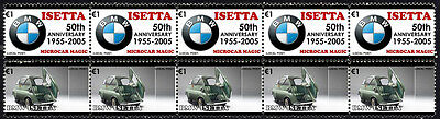 Bmw 50Th Anniversary Strip Of 10 Stamps, Bmw Isetta #2