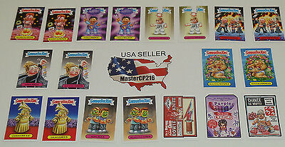 Garbage Pail Kids Wacky Packages 2017 Shammy's complete set 19 Wacky / GPK cards
