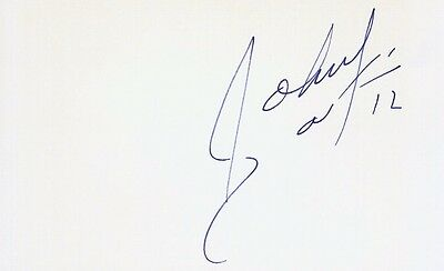 Autographed Index Card - Johnny Dawkins Duke Stanford San Antonio Spurs 76ers